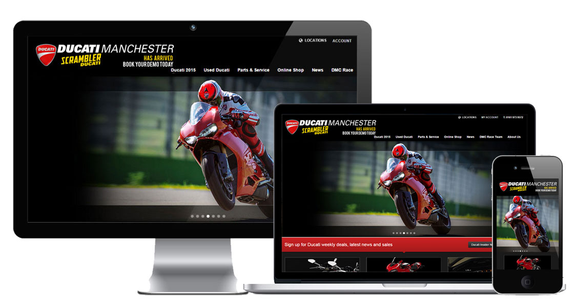 web design for Ducati dealers