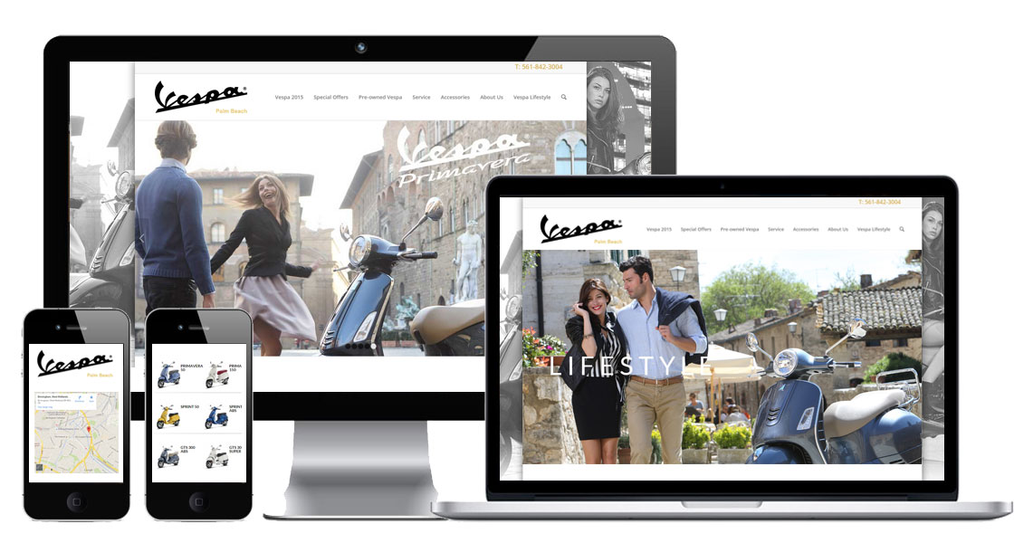 web design for vespa dealers